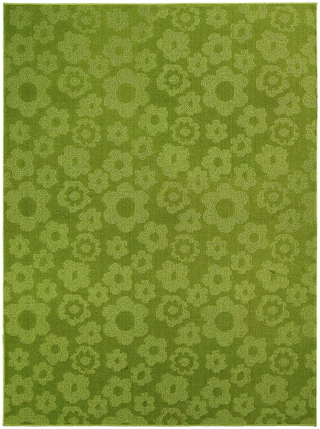 Amazon Com Garland Rug Flowers Area Rug 5 Feet By 7 Feet Lime Kitchen Dining