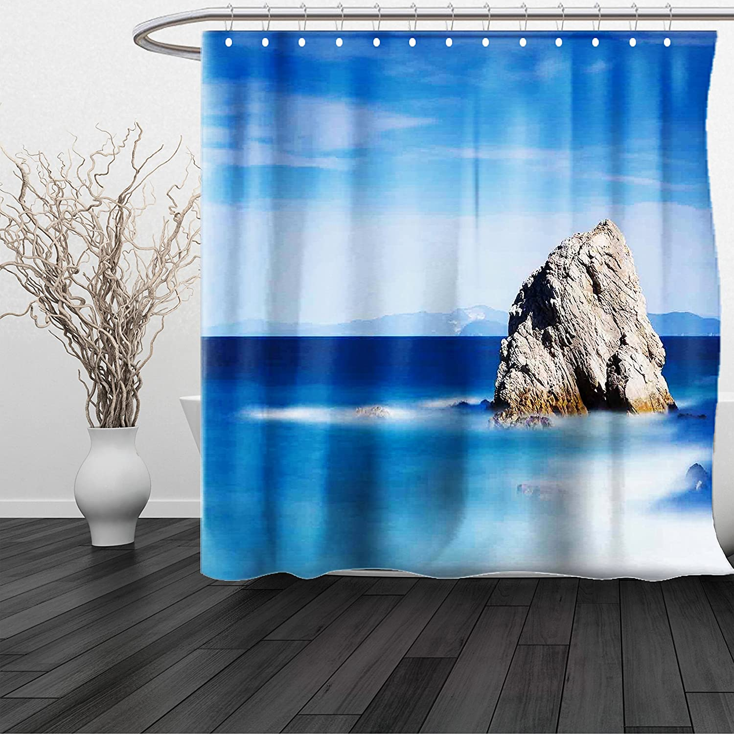 Amazon.com: HAIXIA Shower Curtain Space UFOs and Fantastic Planets ...