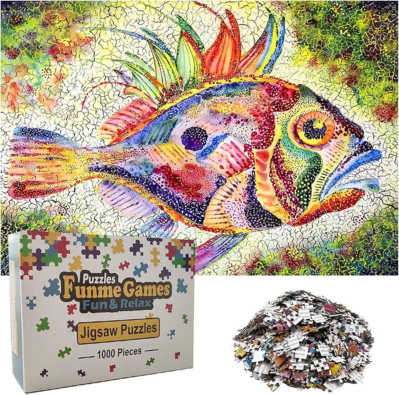 HASSAD Fish Puzzle Nostalgic Painting Landscape Tropical Ocean Jigsaw 1000 Piece