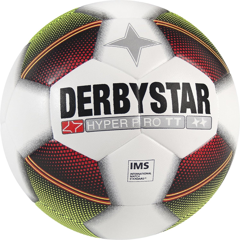 Derbystar fútbol Hyper Pro TT, Entrenamiento, Pelota tamaño 5(420–440g), Color Blanco Amarillo Rojo, 1020 Pelota tamaño 5(420-440g) 1020500153