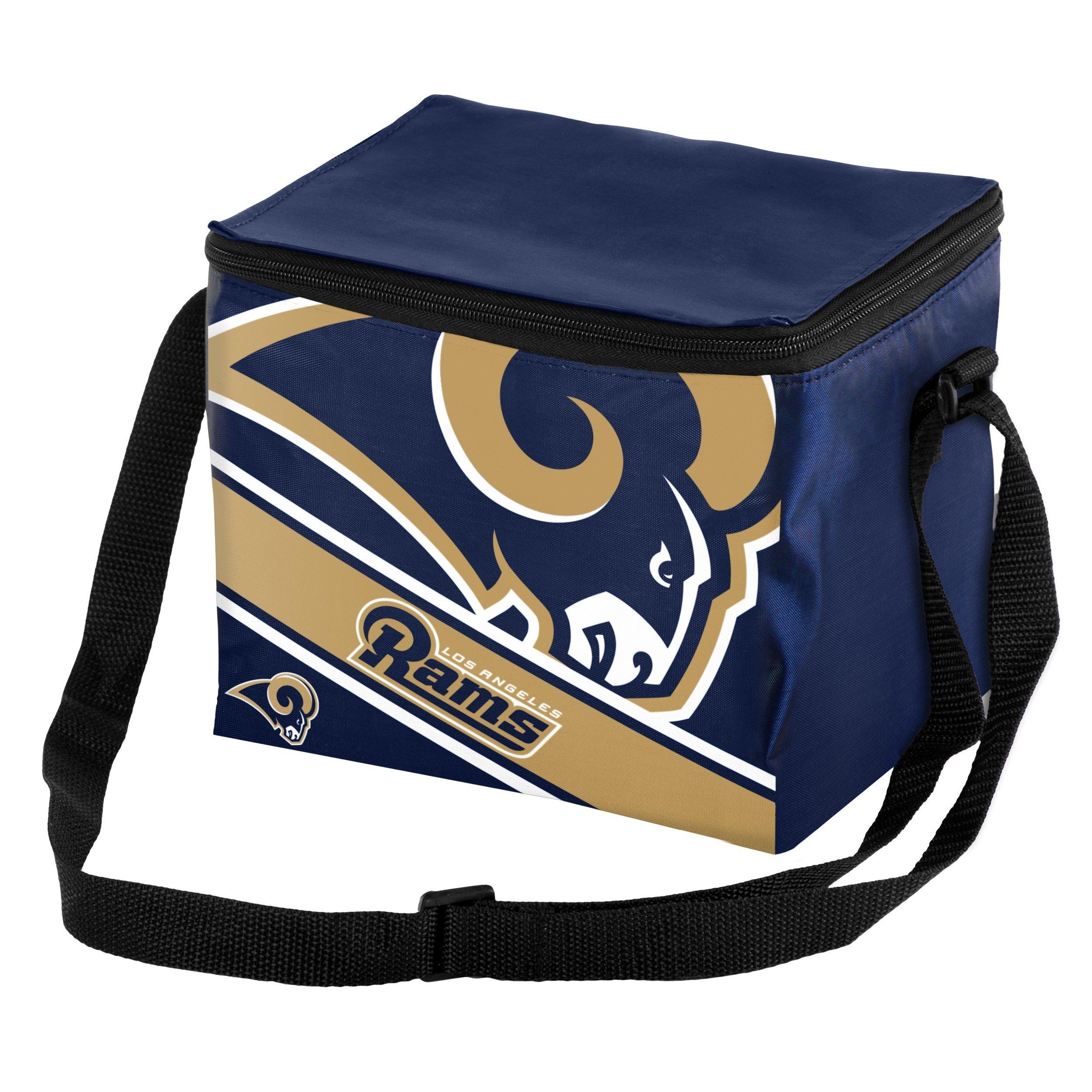 Los Angeles Rams Big Logo Stripe 6 Pack Cooler