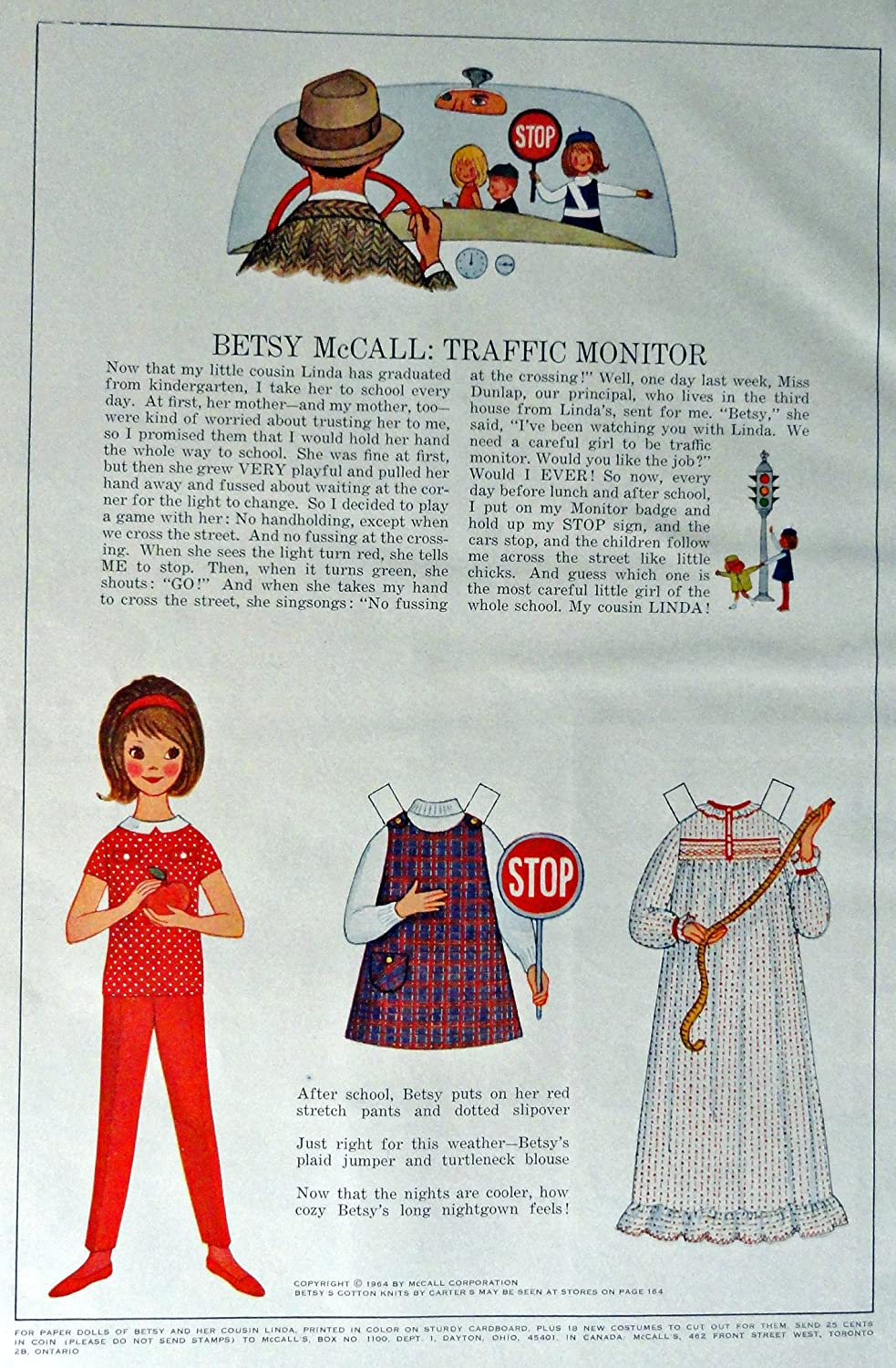 Amazon Com Betsy Mccall Print Advertisment 60 S Color Illustration 10 1 4 X 13 1 4 Full Page Print Art Traffic Monitor Original Vintage 1956 Mccall S Magazine Print Artstore Link Www Amazon Com Shops Ads Thru Time Other Products Posters