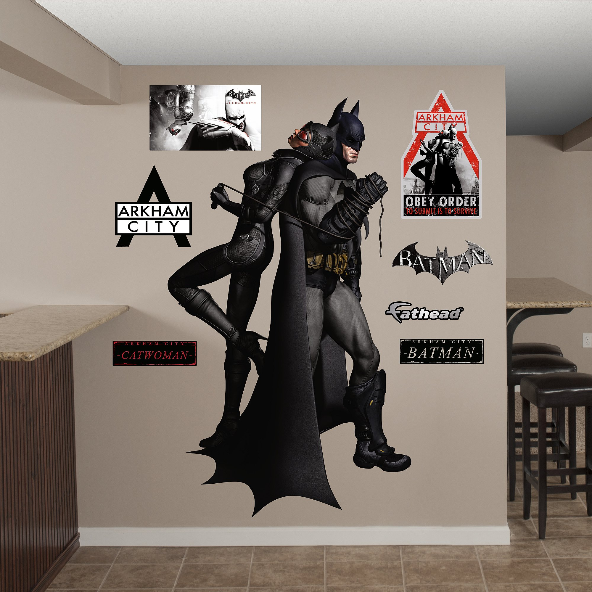 FATHEAD Batman Catwoman Duo: Arkham City Graphic Wall Décor by FATHEAD