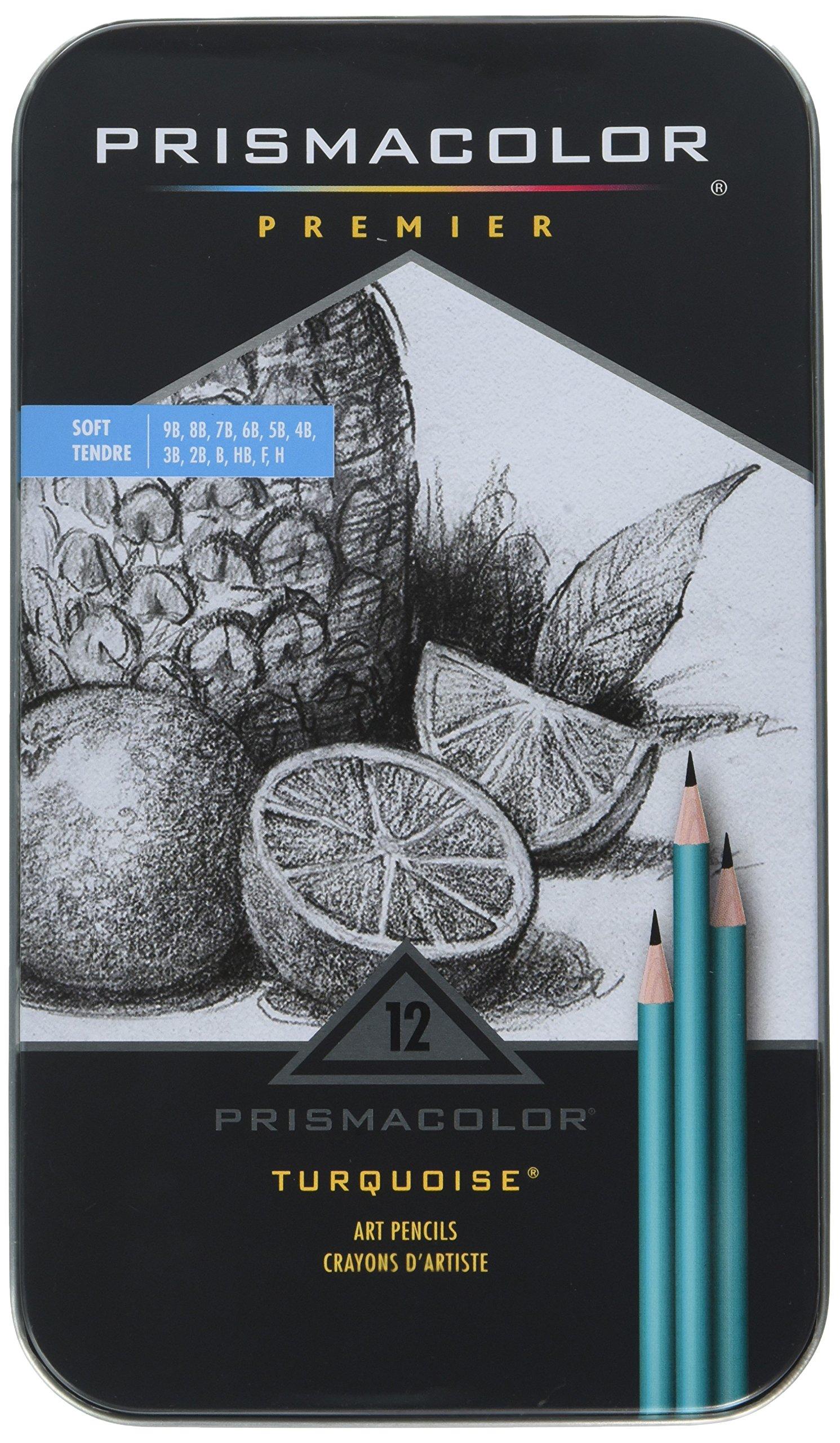 Prismacolor - Premier Turquoise Soft Grade Graphite Pencils,Art Pencils,(1-Pack of 12)