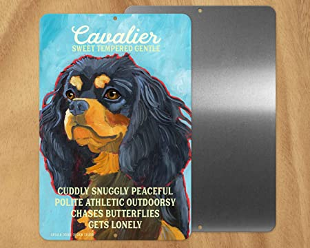 Regalo Cavalier King Charles Spaniel.463opher Cavalier King Charles Spaniel Signo De Metal Para