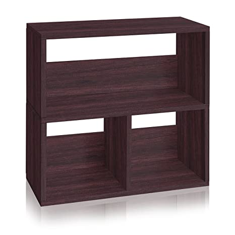 Way Basics Eco Friendly Collins Cubby Bookshelf And Organizer Espresso Made From Sustainable Non
