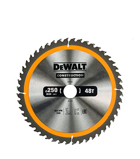 Dewalt dt1957 250 x 30 mm x 48t construction circular saw blade dewalt dt1957 250 x 30 mm x 48t construction circular saw blade yellow keyboard keysfo