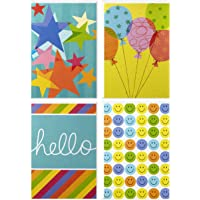 Hallmark Assorted Blank Cards with Envelopes (Cheerful Designs, 12 Cards and Envelopes)