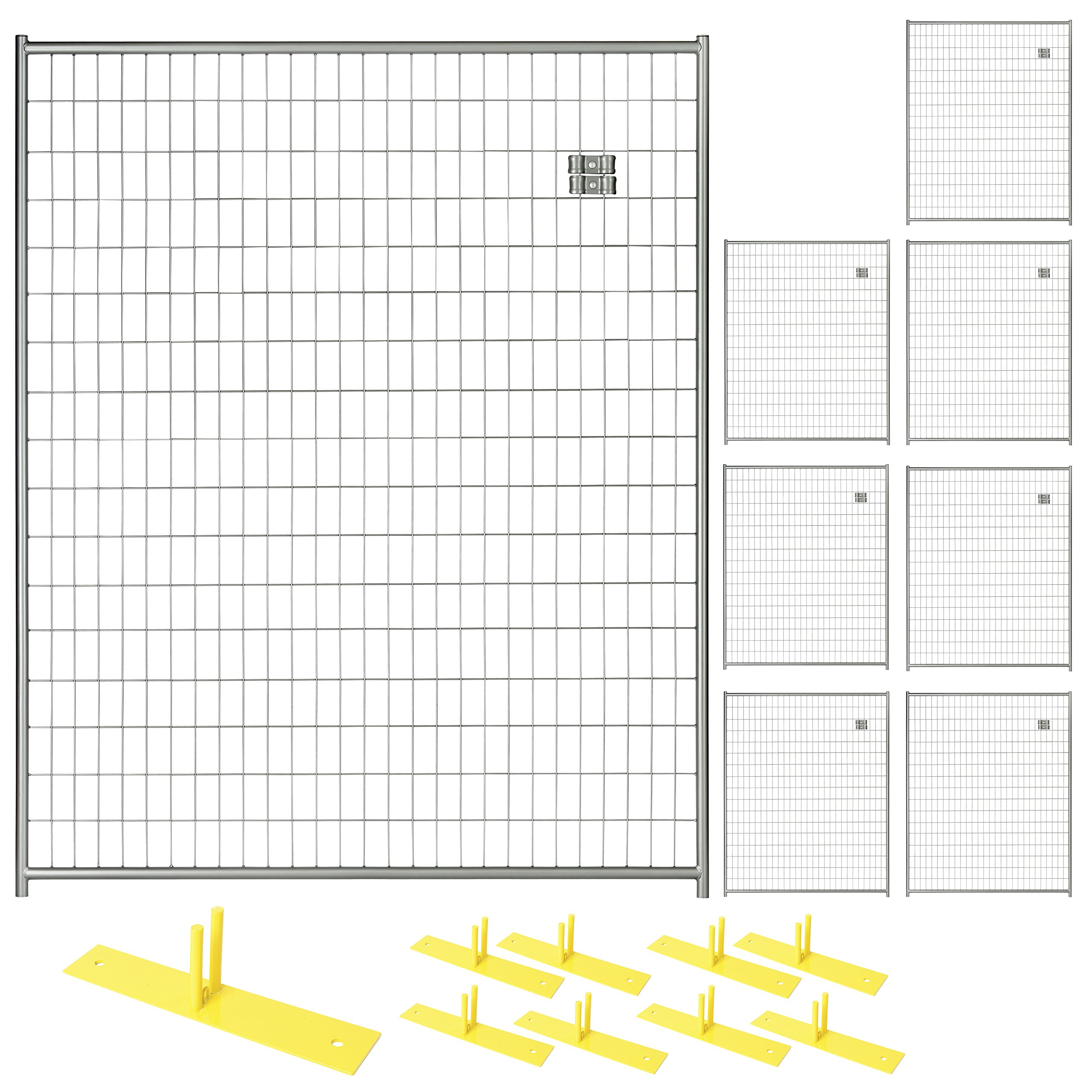 Patrol Portable Security Fence Panel Kit (5'W x 6'H) Black