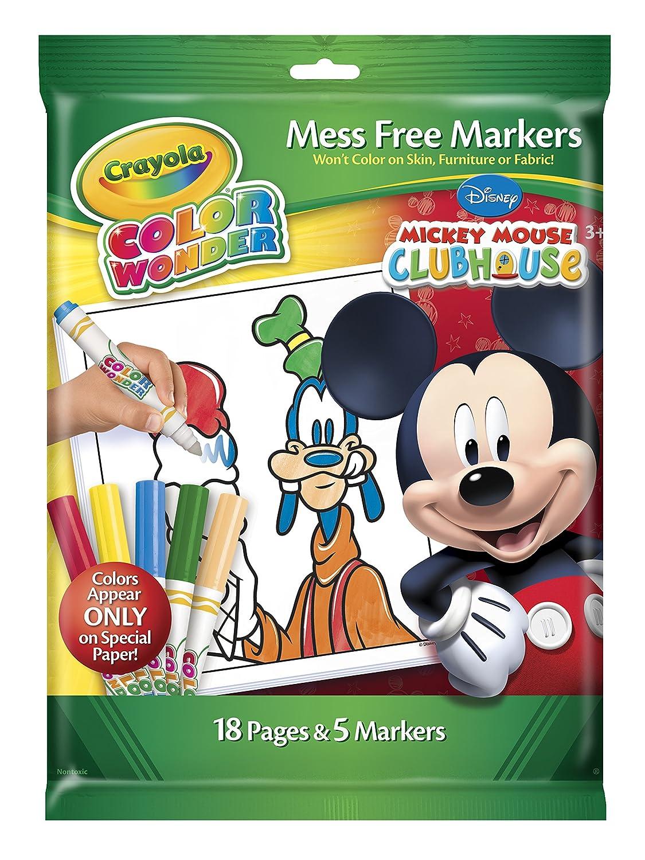 Amazon.com: Crayola Color Wonder Disney Preschool Coloring Pad: Toys ...
