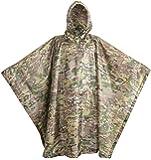 USGI Industries Military Spec Poncho Emergency Tent Shelter Multi Use Rip Stop Camo Survival Rain Poncho