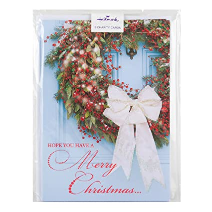hallmark charity christmas card pack happy new year 8 cards