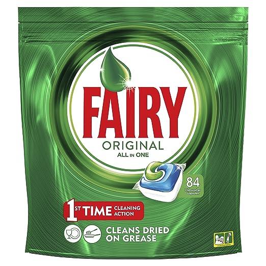 Fairy Original Cápsulas Todo en 1 para Lavavajillas - 84 cápsulas: Amazon.es: Salud y cuidado personal