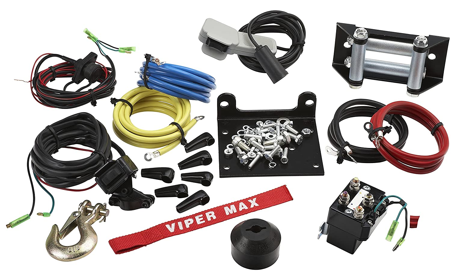 Amazon.com: VIPER Max 5000lb ATV/UTV Winch Kit with 50 feet Steel Cable: Automotive