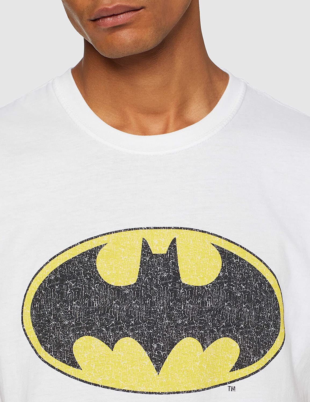 DC Comics Dc Originals Batman Crackle Logo Men T-Shirt Uomo