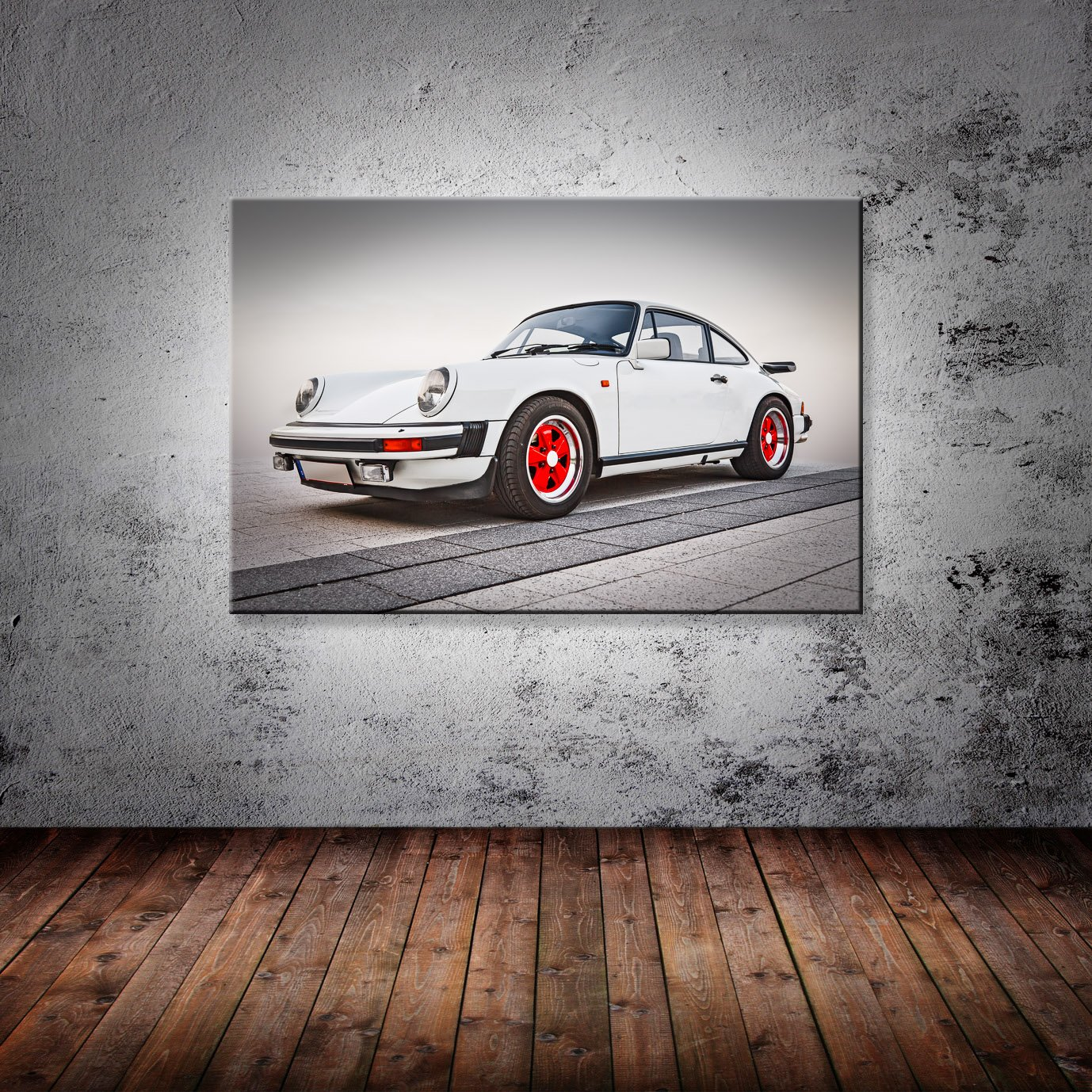 Leinwand Bild Porsche 911 Oldtimer Carrera CS RS 2.7 G-Modell Sepia Neunelfer