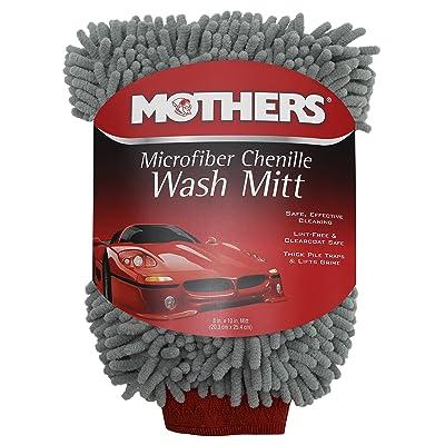 Mothers 968801 Premium Chenille Car Wash Mitt - Scratch & Lint Free: Automotive