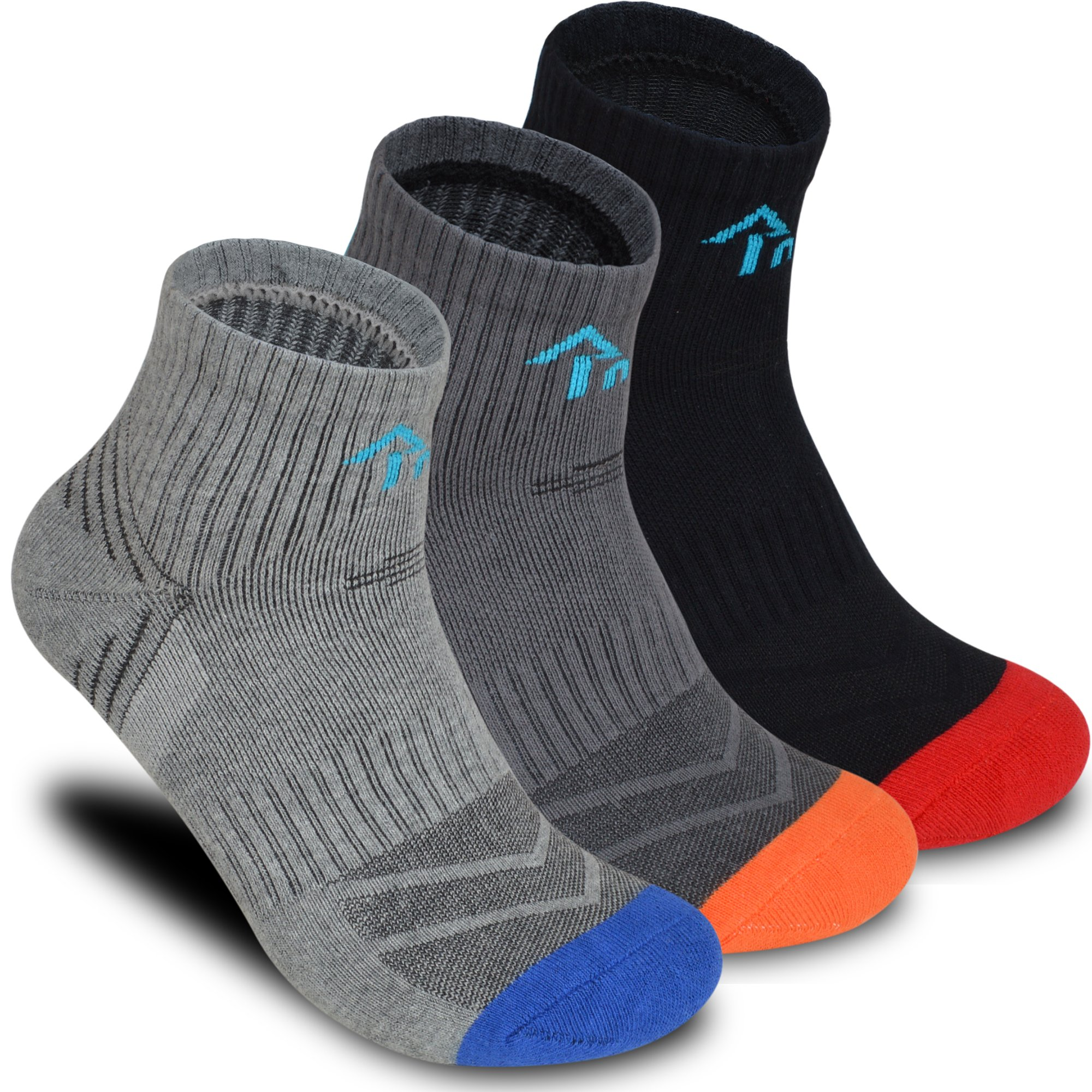 3 Pack Mens Socks - Athletic Socks Hiking Trekking Crew Cushion by Inneeding