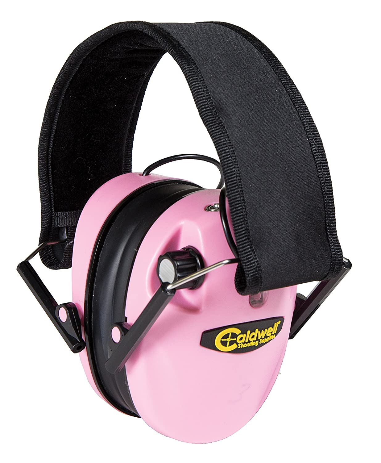 Caldwell E-Max Low Profile Electronic 20-23 NRR Hearing Protection with Sound Amplification and Adjustable Earmuffs for Shooting, Hunting and Range