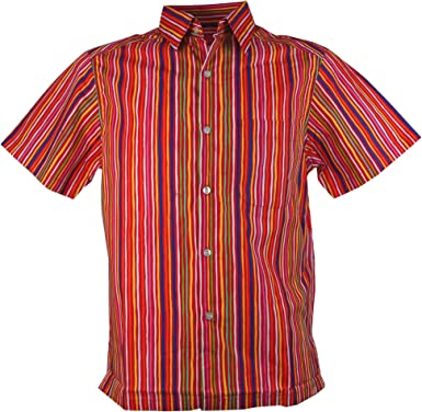 Guru-Shop, Camisa Hippie, Retro, Rojo, Algodón, Tamaño:L, Camisas de Hombre: Amazon.es: Ropa y accesorios