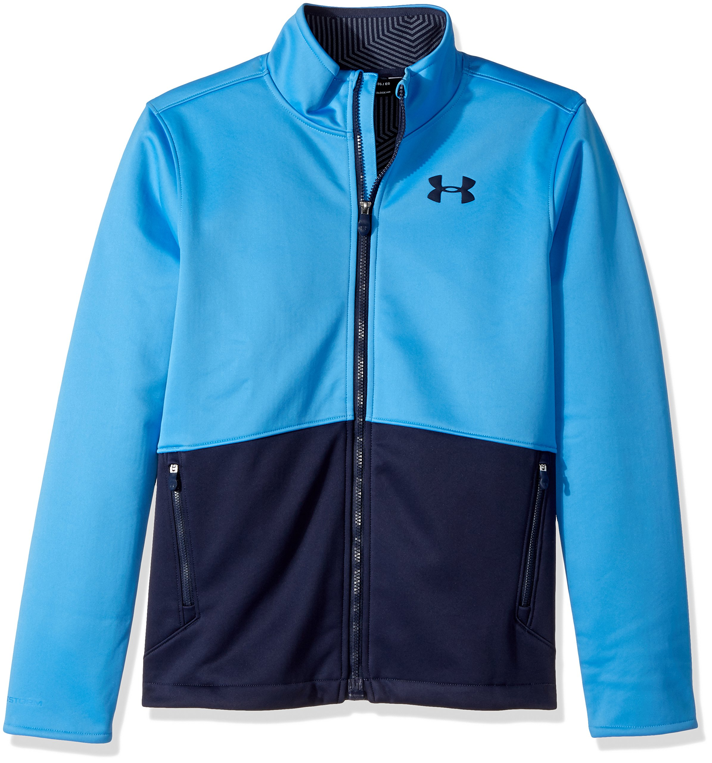 Under Armour Outerwear Youth Boys Storm Softer Shell Jacket, Mako Blue/Midnight Navy, X-Large