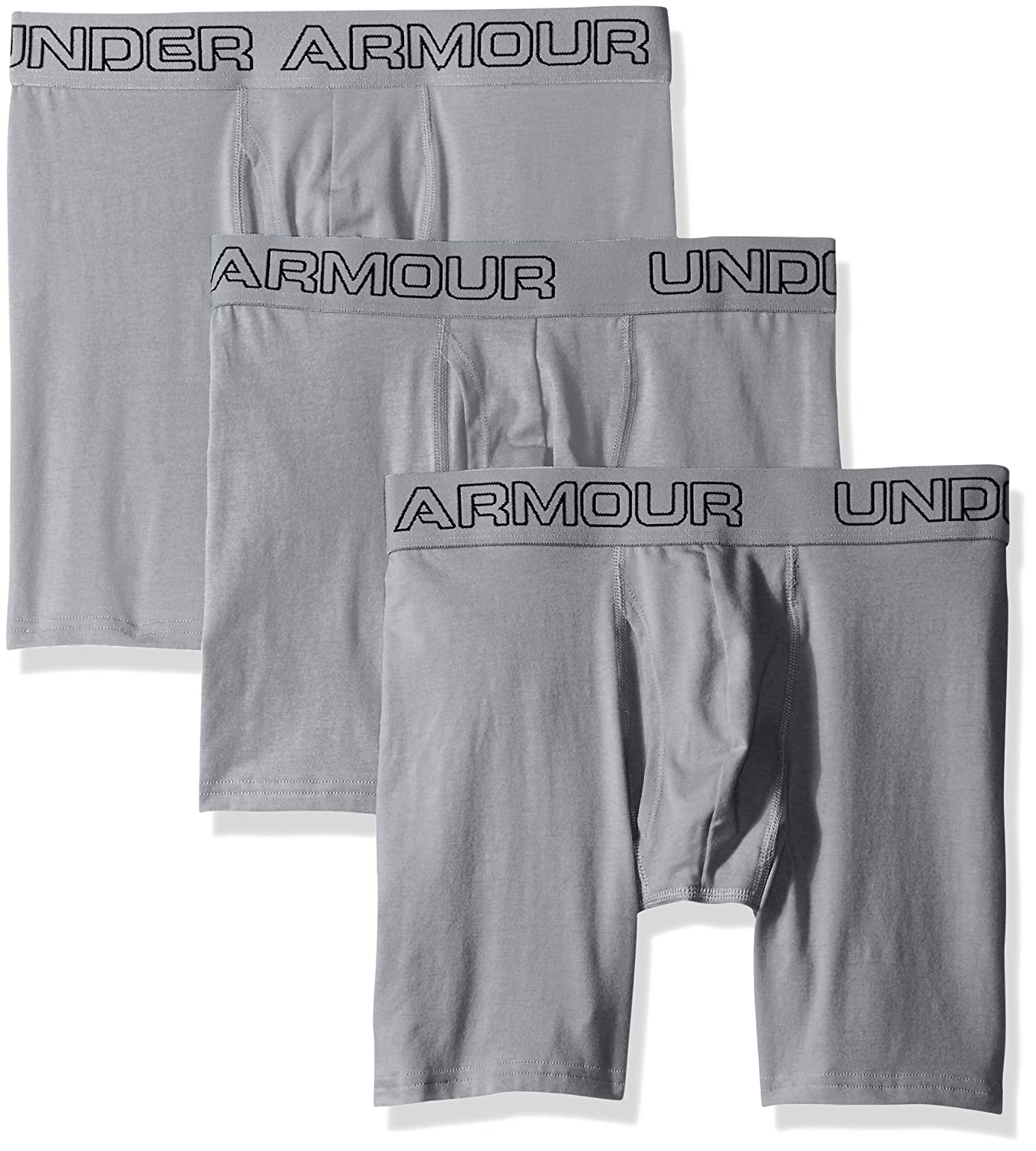 TALLA S. Under Armour Charged Cotton 6in Bóxer, Hombre