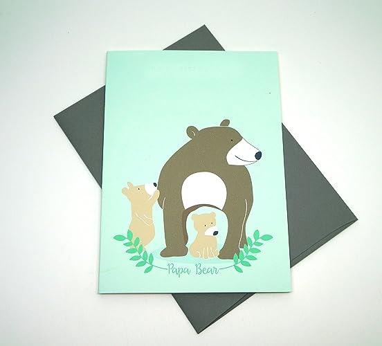 14914574eb Amazon.com  Papa Bear Greeting Card  Handmade