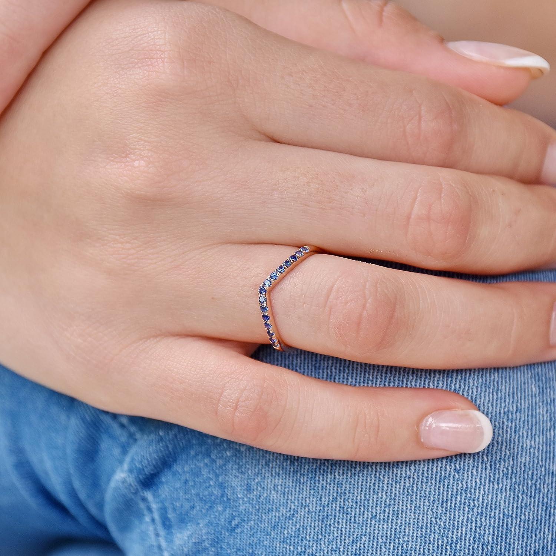 Amazon.com: Blue Corundum ring, Sapphire Gold band, Heart shape gold ...