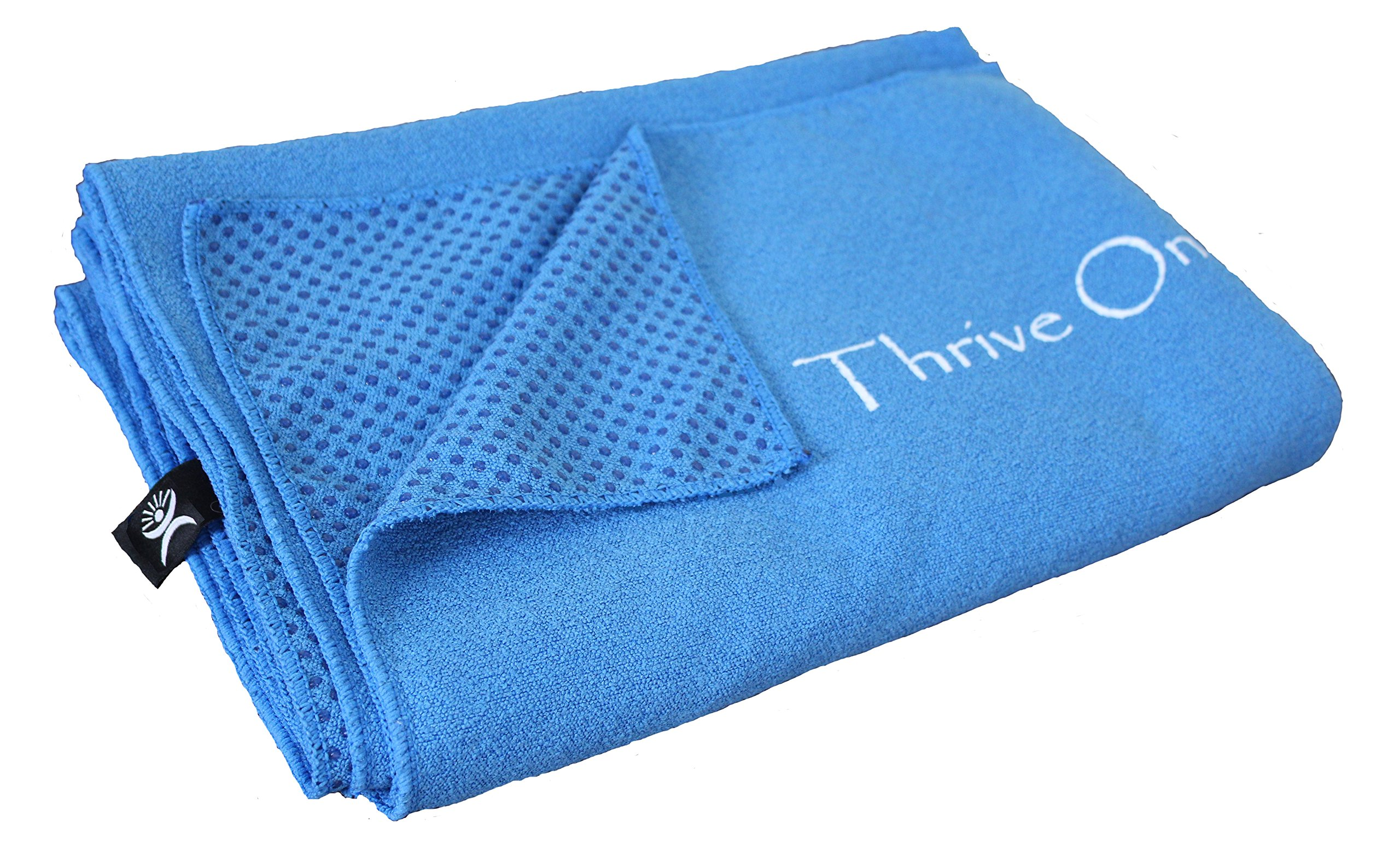 Thrive On Wellness Yoga Towel Mat - 74 in. X 26 in. Full Coverage Extra Large, Soft Microfiber Surface Non-skid Silicone Floor Grips, BEST Travel, Hot Yoga, Pilates High Sweat Exercise by Thrive On Wellness