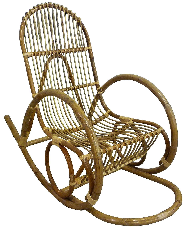 Sedia A Dondolo Prezzo.Dondolo Sedia Poltrona Manao In Vimini Bambu Giunco E Rattan Naturale Per Casa Salotto Bamboo