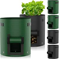 Macetero Bolsa Planta 6Pack 7 Galones,JUCJET Bolsa de Verduras, Bolsas de Cultivo, para Plantas Vegetales Aptas para…