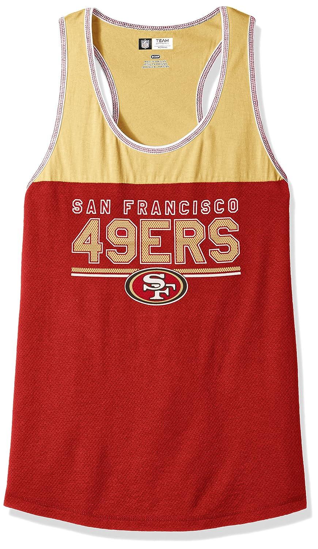 NFL レディース Two Min Offenseシリーズ ノースリーブ スクープネックタンクトップ レーサーバック Medium San Francisco 49ers B01IBLMI04