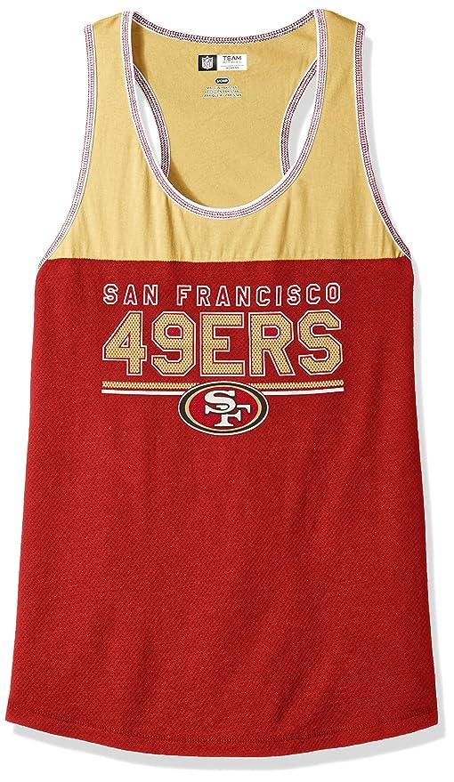 de8683609 NFL San Francisco 49ers Women s Two Min Offense Sleeveless Racer Tank Top