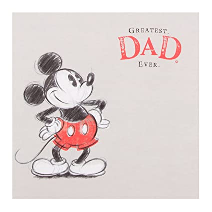 Image Unavailable Not Available For Color Disney Mickey Mouse Dad Birthday Card