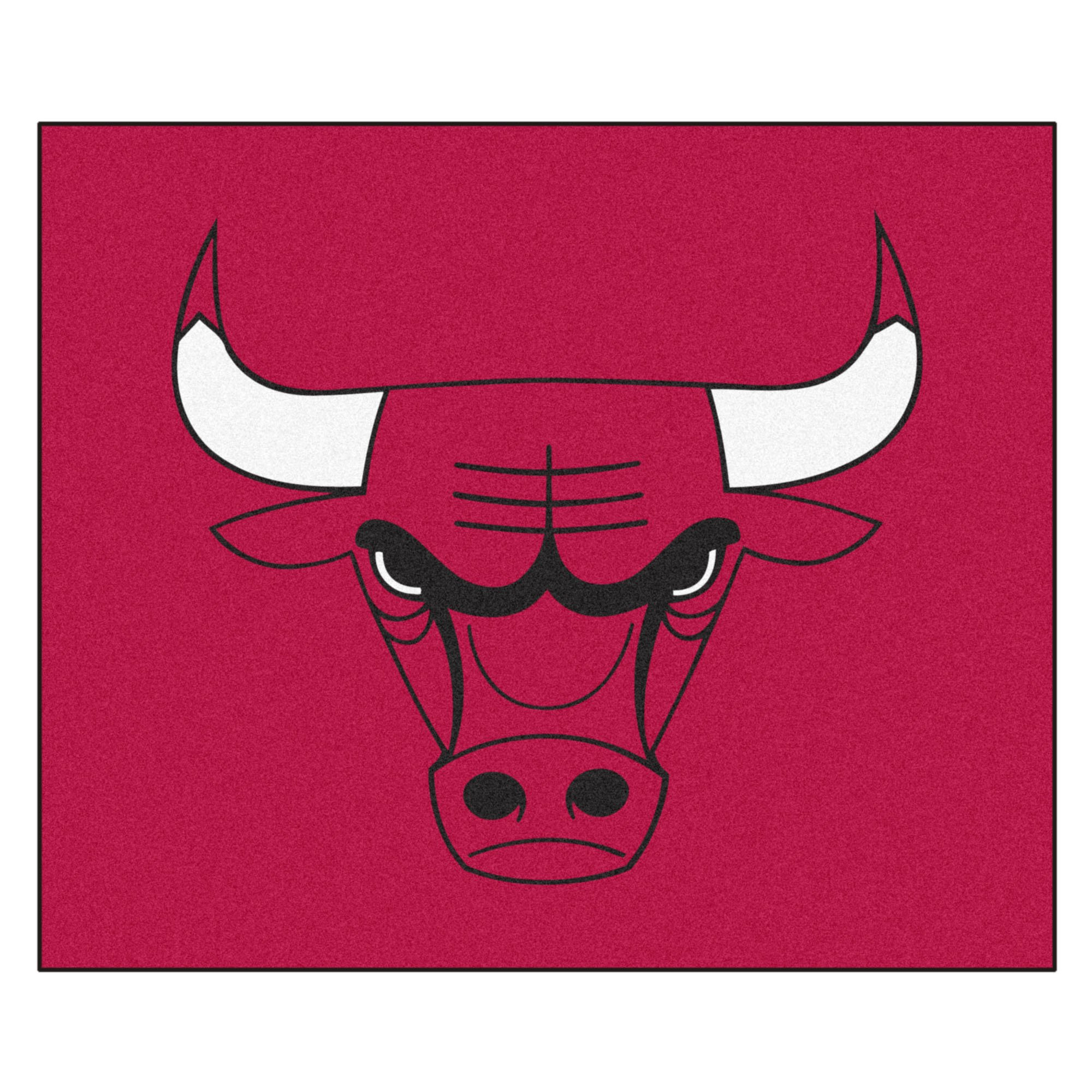 FANMATS 19431 NBA - Chicago Bulls Tailgater Rug , Team Color, 59.5''x71'' by Fanmats