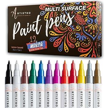 Acryl Marker Stifte für Glasmalerei Keramik Porzellan Stein Holz Stoff Leinwand Extra Feine Spitze Marker Acrylstifte Acrylic