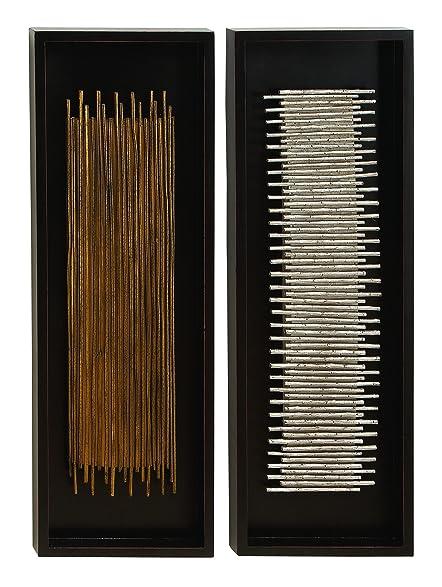 Amazon.com: Deco 79 Wood Wall Decor Assorted Rectangular Frames ...