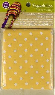 Dritz Espadrilles Lining Dots Fabric, 16