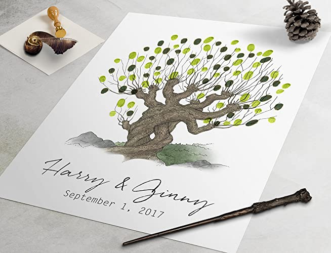 Whomping Willow Guest Book Harry Potter Custom Wedding