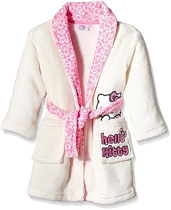Hello Kitty Peignoir Fille Ecru Off White Platre 3 Ans Amazon