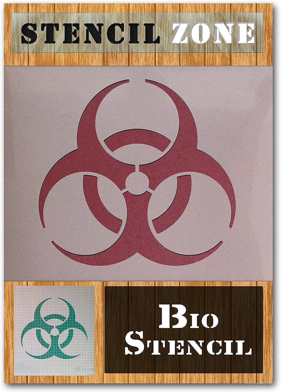 Bio-Hazard-Zeichen-Symbol Mylar Airbrush-Malerei Wand-Deko Stencil A1 Gr/ö/ße Stencil - XLarge