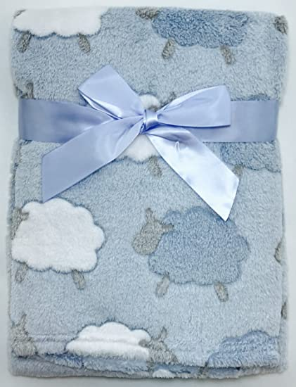 Blue Train E/&A Luxury Soft Fleece Baby Blanket Jungle Design 75 x 100cm for Babies from Newborn