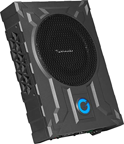 """Planet Audio PA8W 8/"""" 800w Slim Under-Seat Active Powered Car//Truck Subwoofer Sub"""