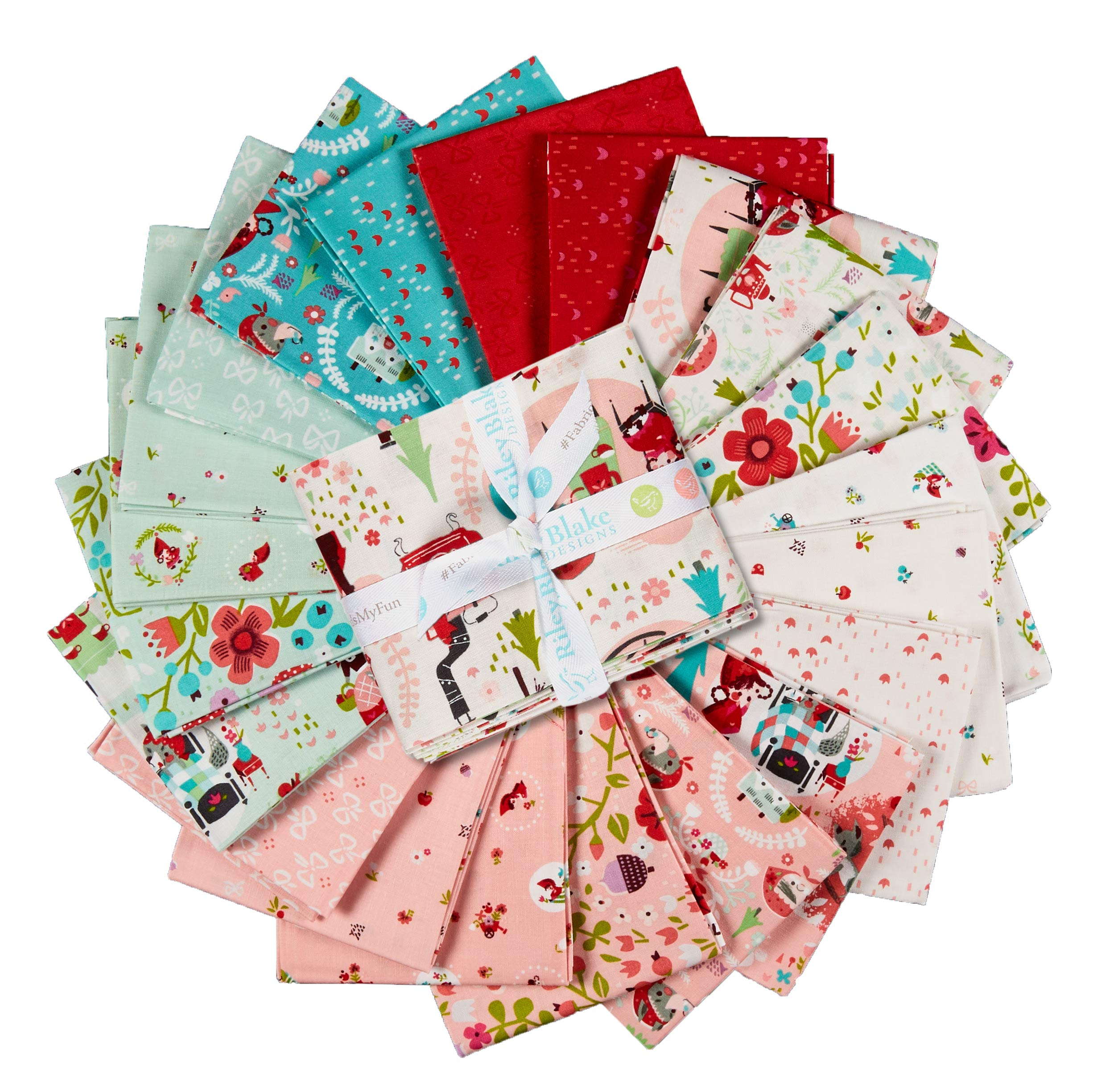 Riley Blake Designs Riley Blake Little Red in The Woods Fat Quarter Bundle 21 Pcs Multi