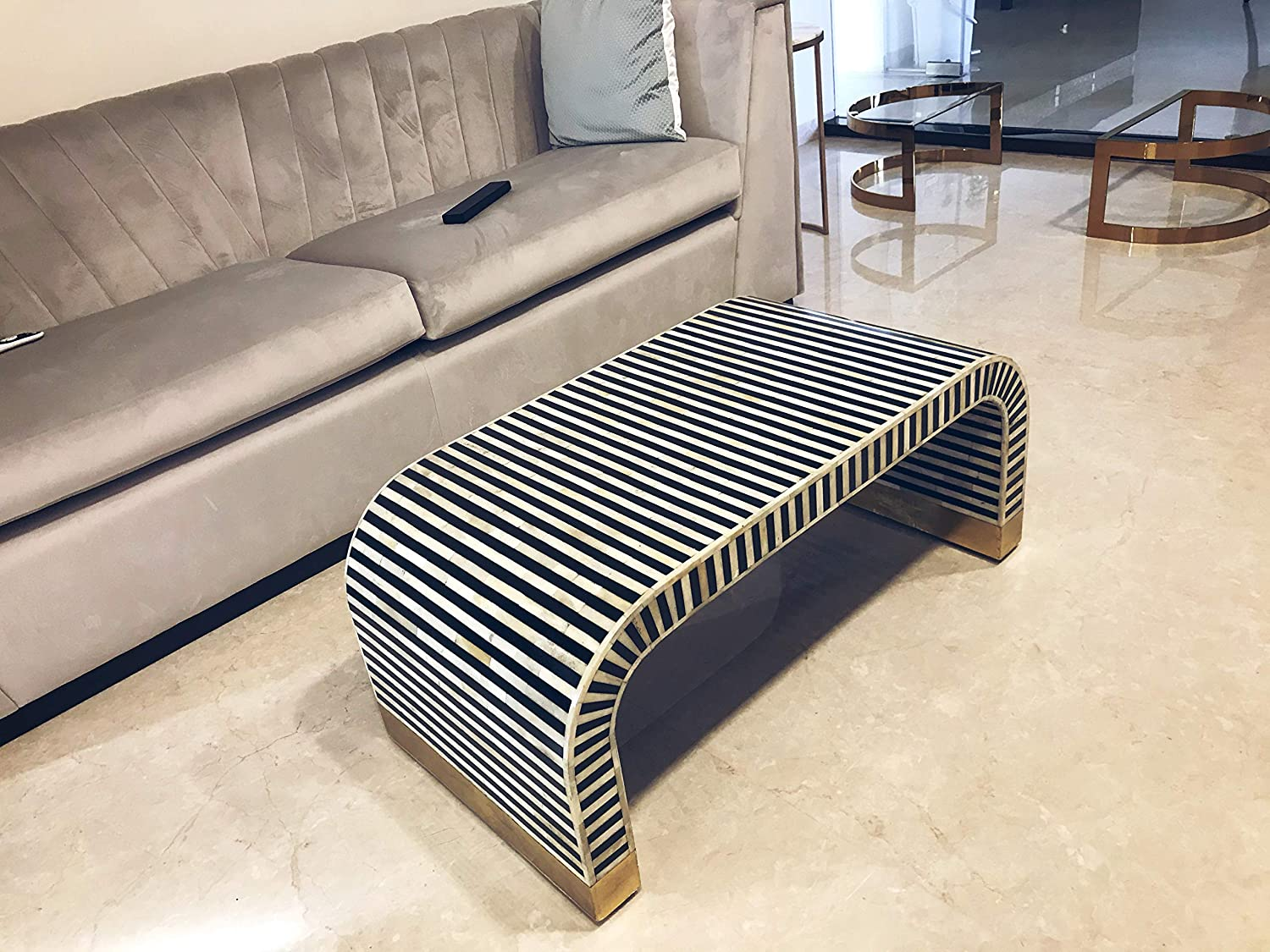 Handcrafted Bone Inlay Coffee Table: Amazon.in: Home & Kitchen