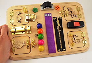 Sensory for baby, Travel busy board, Toddler toys, Toy for boy, Montessori for girls, Toy for autism, Gift 1st, Baby gifts, Busy boards, Occupational Therapy, Toy for autism, Baby toy, Special Needs