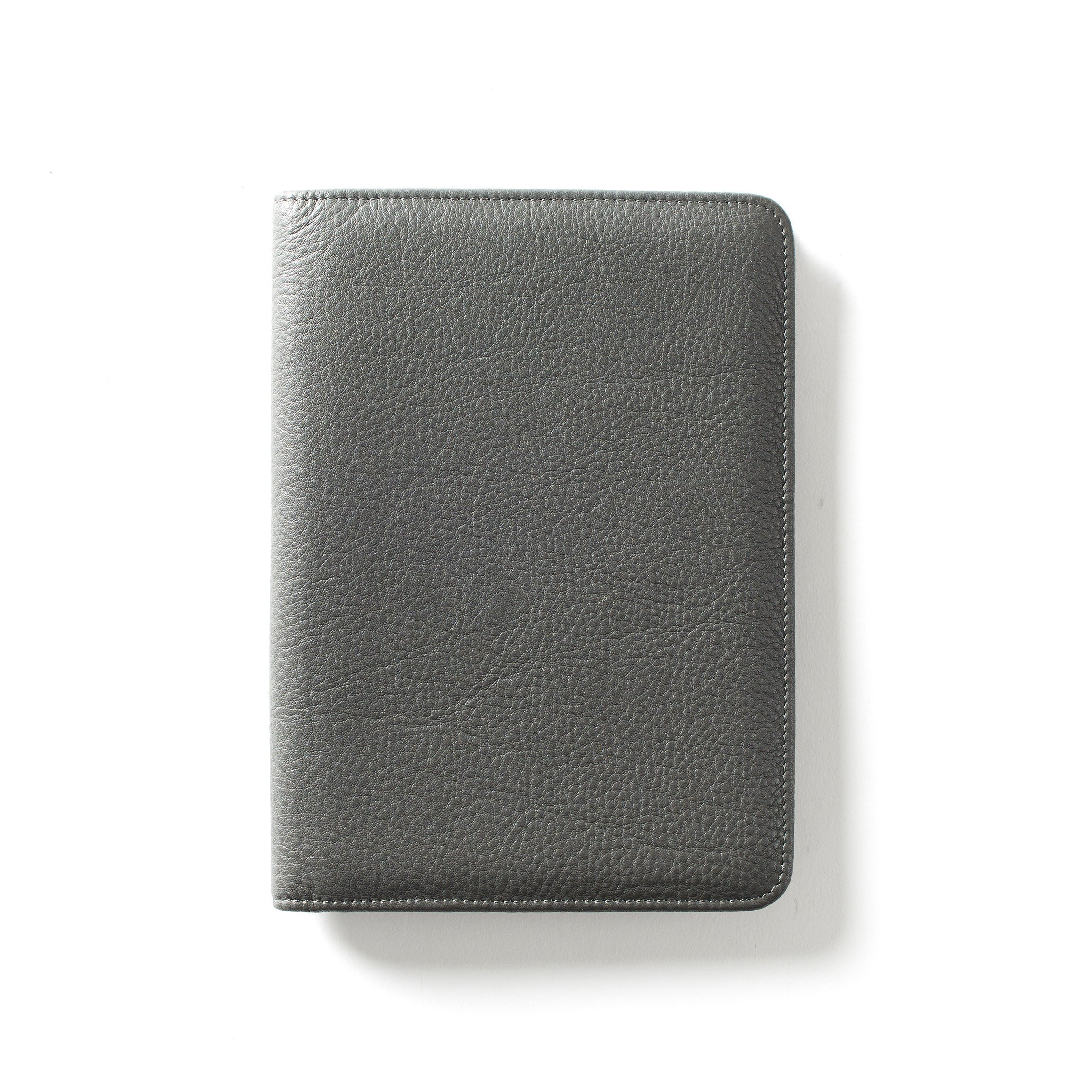 Leatherology Junior Padfolio with Pen Loop - Full Grain Leather Leather - Charcoal (gray) by Leatherology (Image #2)