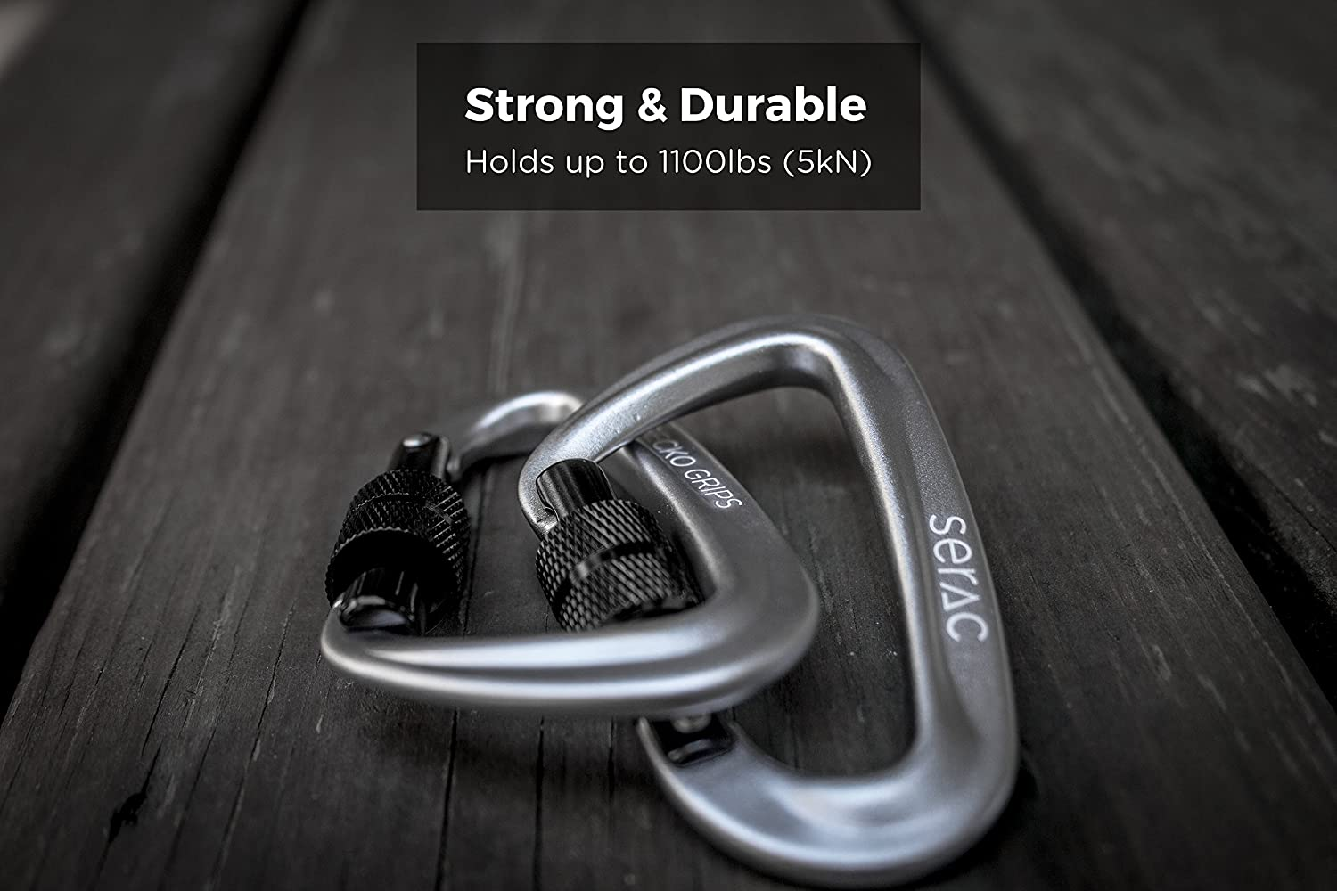 Serac 1 Ultra Strength Locking Carabiners X2 Up To Techstrong Basic Electronics Project4 Simple Electronic Code Lock 5kn Thats 1100 Lbs Of Force Perfect Classic Single Or Sequoia Double Hammocks Made