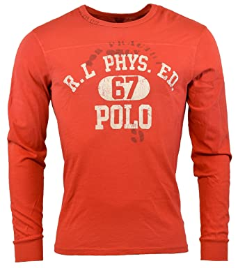 651319a4 Polo Ralph Lauren Mens Classic Fit Long Sleeve Graphic Logo T-Shirt - M -  Red Beret | Amazon.com