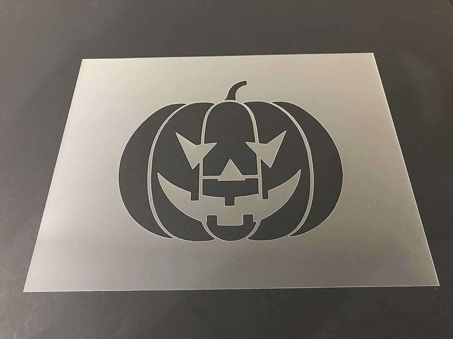 Pumpkin Stencil #2 Reusable 10 mil Thick 7in x 9in sheet